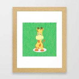 A happy giraffe Framed Art Print