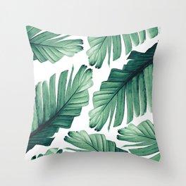 Tropical Banana Leaves Dream #3 #foliage #decor #art #society6 Throw Pillow