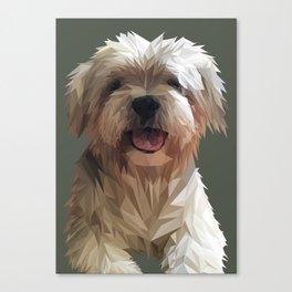 Shih tzu Low Poly Canvas Print