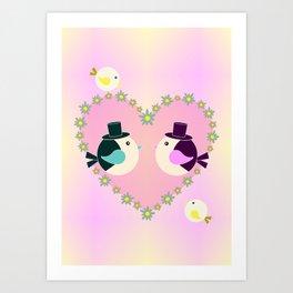 Loving You Art Print