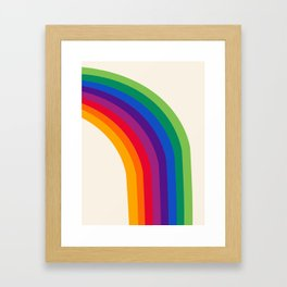 Groovy - rainbow 70s 1970s style retro throwback minimal happy hippie art decor Framed Art Print