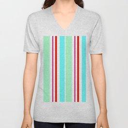 Stripes in colour 2 Unisex V-Neck