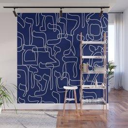 Hebrew Alphabet Seamless Pattern Wall Mural