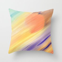 """""""Catch the Sun #1 – New #1"""" Oil Painting Throw Pillow"""