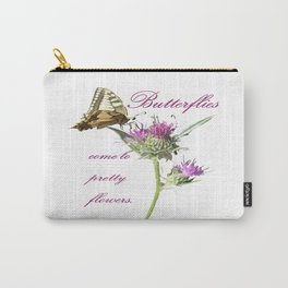 Butterflies Come To Pretty Flowers Korean Proverb Carry-All Pouch
