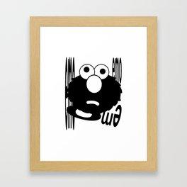 Emo Elmo Framed Art Print