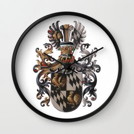 Medieval Old Crest Wall Clock