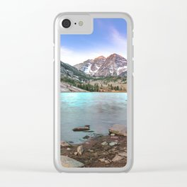 Sunrise over the Maroon Bells Clear iPhone Case
