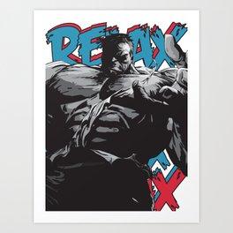 """RELAX!"" PRINT (WHITE)` Art Print"