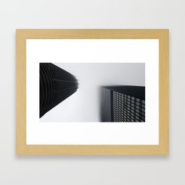 Foggy chicago Morning 001 Framed Art Print