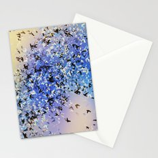 Birds of a feather blue Stationery Cards