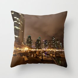 Coal Harbour Vancouver New Years Eve 2017 Throw Pillow