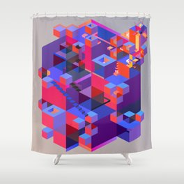 Everything is on the inside Shower Curtain