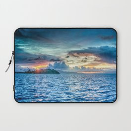 Bora Bora Polynesia sunset Laptop Sleeve