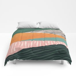 Modern irregular Stripes 02 Comforters