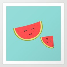 Happy Watermelon Art Print