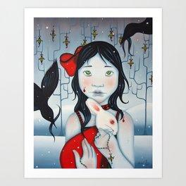 Little Girl Blue Art Print