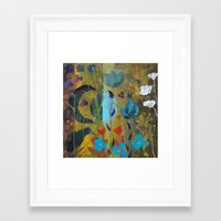 drum Framed Art Prints featuring Drum Circle by Robin Maria Pedrero