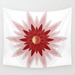 Red Christmas Flower Wall Tapestry