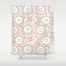 Dish Pattern Shower Curtain