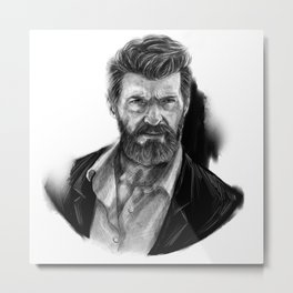 Old man Logan no.01(Hugh jackman) Metal Print