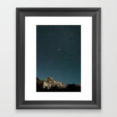 A Clear Winter's Night in Yosemite Framed Art Print