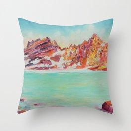 Broken Top Lake Throw Pillow