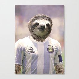Football Sloth Canvas Print