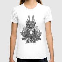 doberman T-shirts featuring Doberman & Daisies by Britt Sorensen