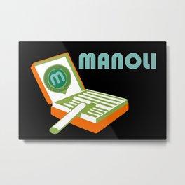 Manoli Plakatstil Metal Print
