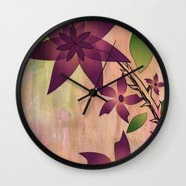 Red floral arrangement Wall Clock