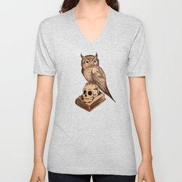 Wise Old Owl Unisex V-Neck