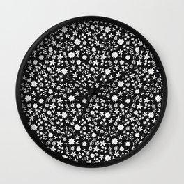 petite flowers Wall Clock
