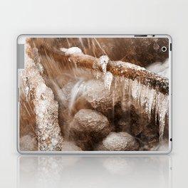 Frozen Harp Falls - Sepia Nostalgia Laptop & iPad Skin