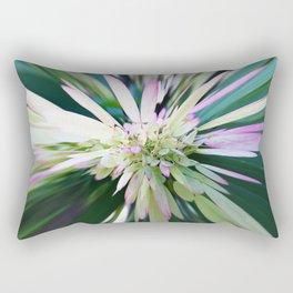 447 - Abstract Flower Design Rectangular Pillow