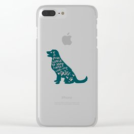 Stay at Home Dog Clear iPhone Case