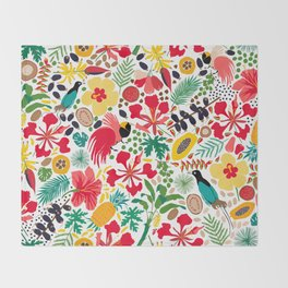tropical botanical Throw Blanket