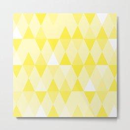 Harlequin Print Yellows I Metal Print
