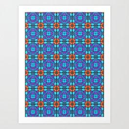 Southwestern Glass Tile Digital Art Art Print