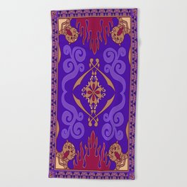 Alladin Purple Magic Carpet Beach Towel