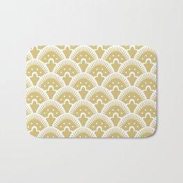 Fan Pattern Gold 201 Bath Mat