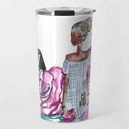 Flowers and Fashion Travel Mug