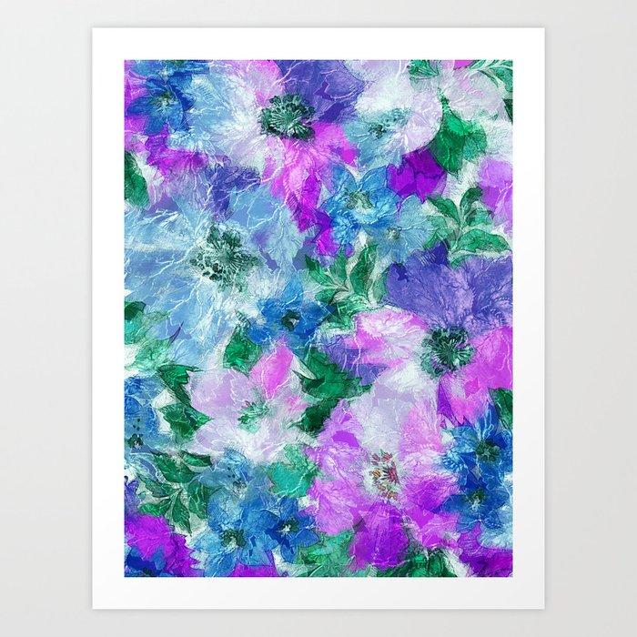 Splendid Flowers 3 Art Print