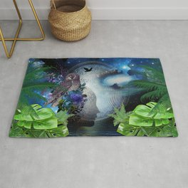 Outer Space Galaxy Rug