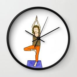 Yoga Folks - Tree Position  Wall Clock