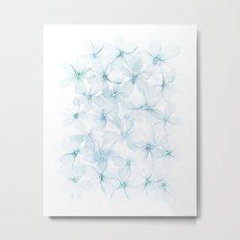 Blue Sakura Metal Print