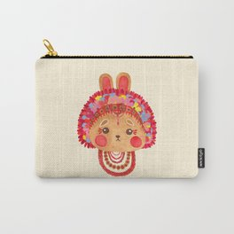 The Flower Crown Bunny Carry-All Pouch