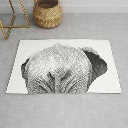 Black and white elephant animal jungle Rug