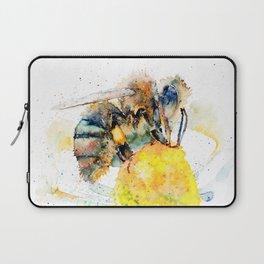 the honey bee and the daisy Laptop Sleeve