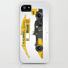 Outline Series N.º5, Ayrton Senna, Lotus 99T-Honda, 1987 Slim Case iPhone (5, 5s)